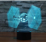 Star Wars 3D LED Light - Visual illusion Wopilix 7cL original plane