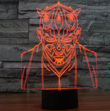 Star Wars 3D LED Light - Visual illusion Wopilix 7color Darth Maul