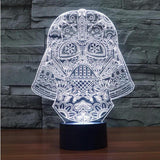 Star Wars 3D LED Light - Visual illusion Wopilix 7color Darth vader3