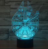 Star Wars 3D LED Light - Visual illusion Wopilix 7color lightsabeship
