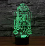 Star Wars 3D LED Light - Visual illusion Wopilix 7color r2d2
