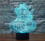 Star Wars 3D LED Light - Visual illusion Wopilix 7color tank