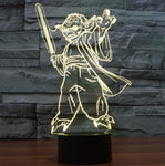 Star Wars 3D LED Light - Visual illusion Wopilix 7color Yoda 2style