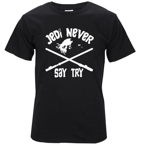 T-Shirt Star Wars - Jedi Never Wopilix BLK S