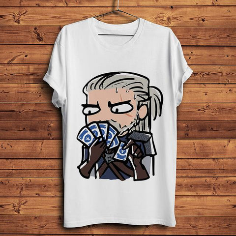 The Witcher T-Shirt - Geralt of Rivia Funny Wopilix 2894 XL