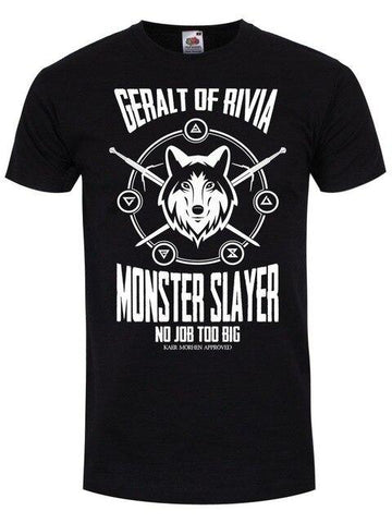 The Witcher T-Shirt - Monster Slayer Wopilix Black M