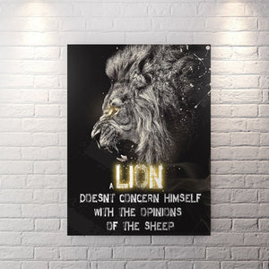 A Lion Is Not Concerned - Canvas Wall Art - Beast Mode Best Seller Entrepreneur Grind Hustle - $79.00