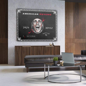 American Psycho - Canvas Wall Art - Best Seller Entrepreneur Grind Hustle Motivation - $79.00