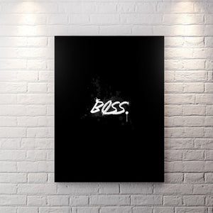 Blk Collection - Boss - Canvas Wall Art - Boss Entrepreneur Motivational - $79.00