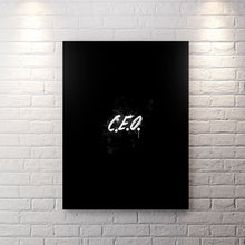Blk Collection - Ceo - Canvas Wall Art - Boss Ceo Entrepreneur Focused Motivational - $79.00