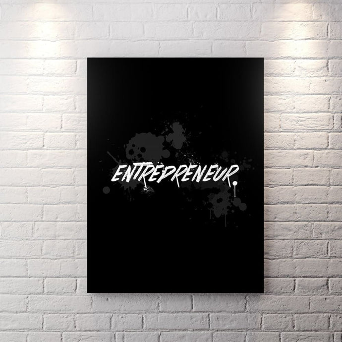 Blk Collection - Entrepreneur - Canvas Wall Art - Boss Do Work Entrepreneur Grind Motivational - $79.00