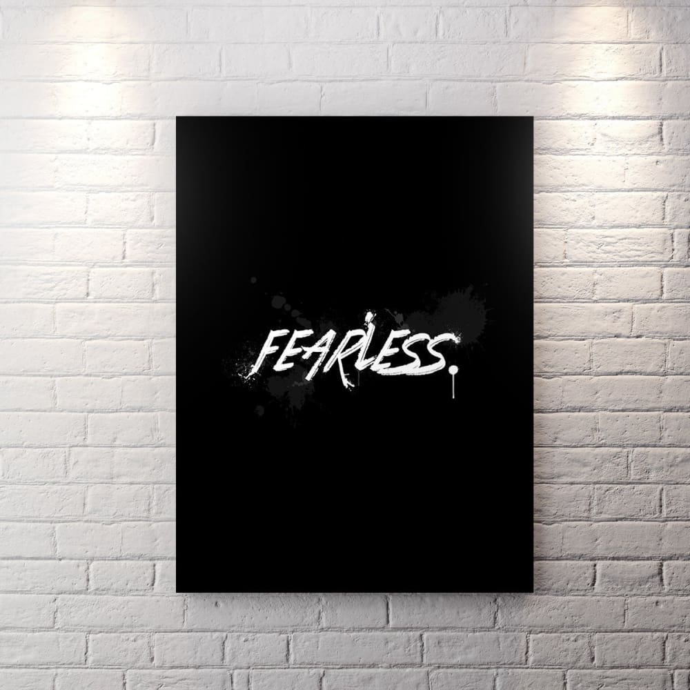 Blk Collection - Fearless - Canvas Wall Art - Be Humble Boss Entrepreneur Fearless Motivational - $79.00
