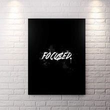 Blk Collection - Focu$Ed - Canvas Wall Art - Be Humble Boss Entrepreneur Fearless Focused - $79.00