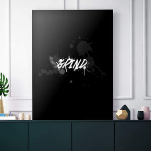 Blk Collection - Grind - Canvas Wall Art - Best Seller Entrepreneur Grind Motivational - $79.00