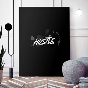 Blk Collection - Hustle - Canvas Wall Art - Best Seller Entrepreneur Grind Hustle Motivation - $79.00