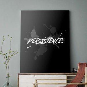 Blk Collection - Persistence - Canvas Wall Art - Be Humble Boss Entrepreneur Motivational Persistence - $79.00