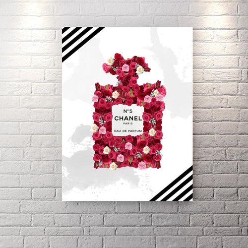 Chanel Inspired Series - Coming Up Roses - Canvas Wall Art - Best Seller Boss Lady Female Boss Luxury Lifestyle - $79.00