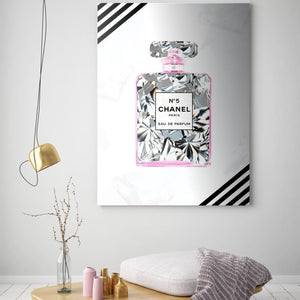 Chanel Inspired Series - Diamonds Are A Girls Best Friend - Canvas Wall Art - Best Seller Boss Lady Female Boss Luxury Lifestyle - $79.00