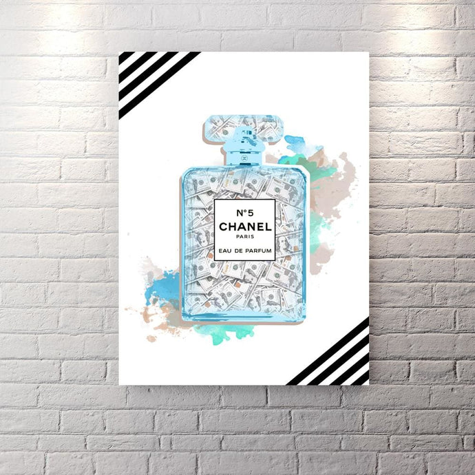 Chanel Inspired Series - In Sexy We Trust Edition - Canvas Wall Art - Best Seller Boss Lady Female Boss Luxury Lifestyle - $79.00