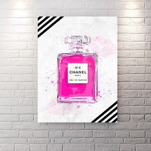 Chanel Inspired Series - Pink Edition - Canvas Wall Art - Best Seller Boss Lady Female Boss Luxury Lifestyle - $79.00