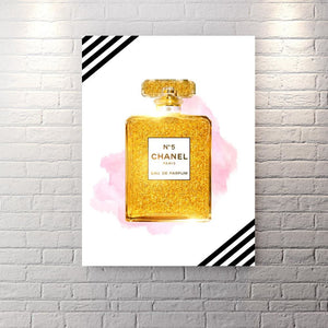 Chanel Inspired Series - Sparkle And Shine Edition - Canvas Wall Art - Best Seller Boss Lady Female Boss Luxury Lifestyle - $79.00