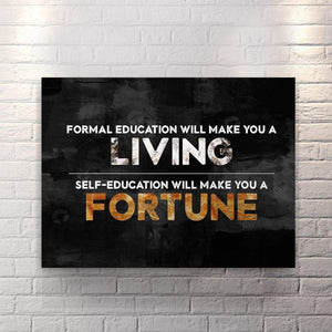 Fortune Maker - Canvas Wall Art - Entrepreneur Grind Hustle Motivation Motivational - $79.00