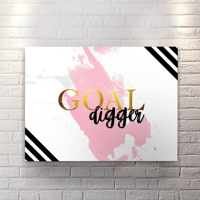 Goal Digger - Canvas Wall Art - Best Seller Boss Lady Entrepreneur Female Boss Motivational - $79.00