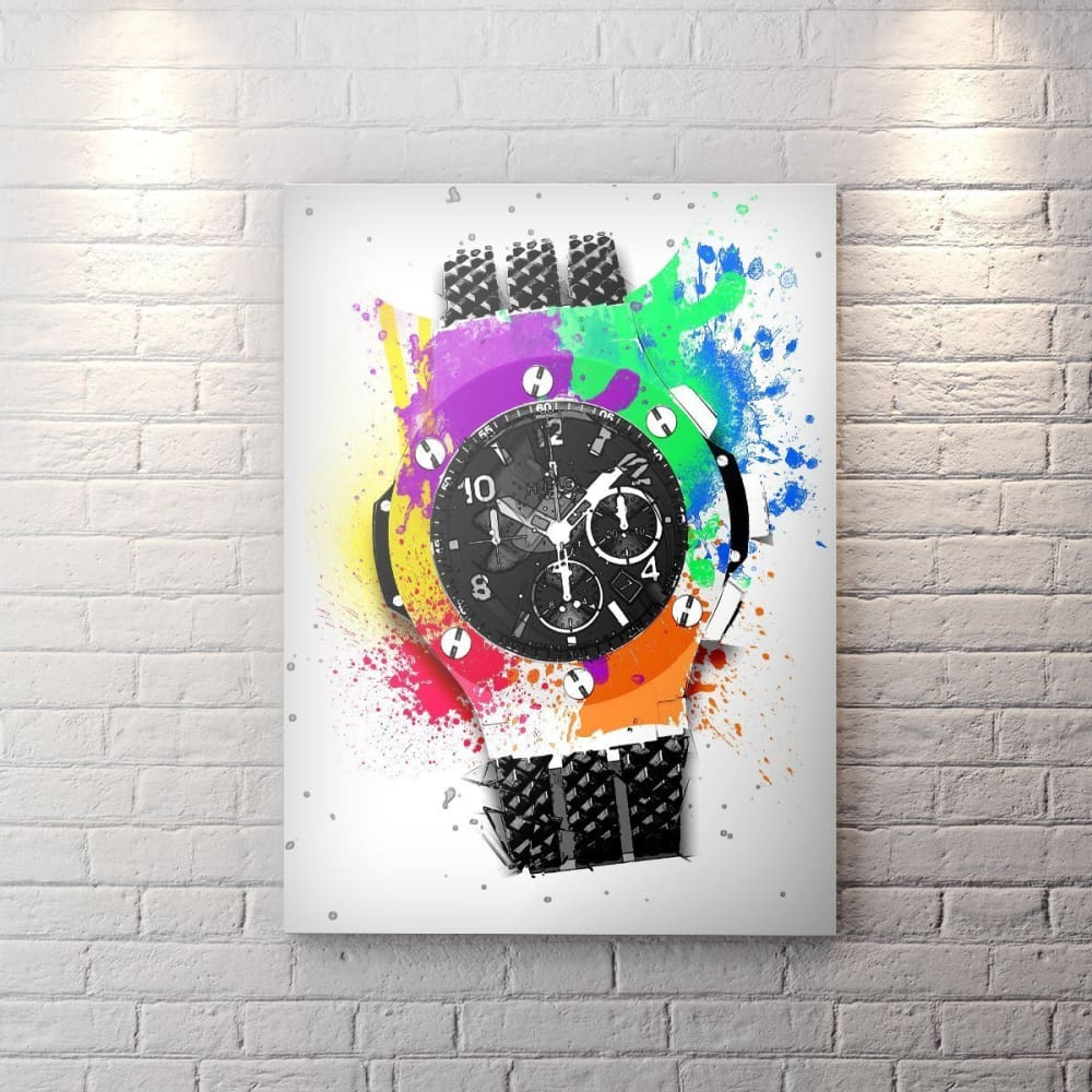 Hublot Inspired Series - Pop Art Edition - Canvas Wall Art - Luxury Lifestyle Street Style Watches - $79.00