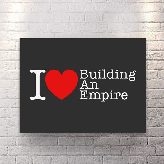 I heart BAE - Canvas Wall Art - Beast Mode Entrepreneur Grind Hustle Motivation - $79.00