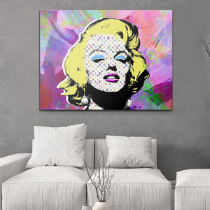 Marilyn Vuitton - Pop Art - Canvas Wall Art - Best Seller Boss Lady Female Boss Pop Culture - $79.00