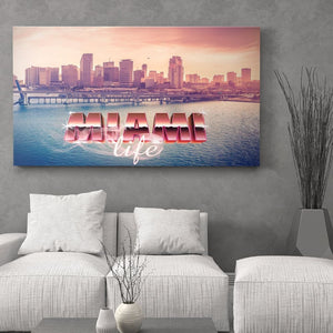 Miami Life Throwback - Canvas Wall Art - Best Seller Luxury Lifestyle Places - $79.00