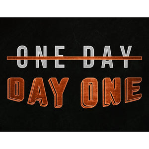 One Day Or Day One - Canvas Wall Art - Beast Mode Entrepreneur Grind Hustle Motivation - $79.00