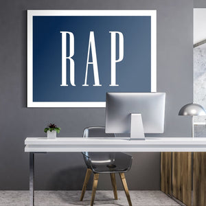 Rap - Canvas Wall Art - Beast Mode Entrepreneur Grind Hustle Pop Culture - $79.00