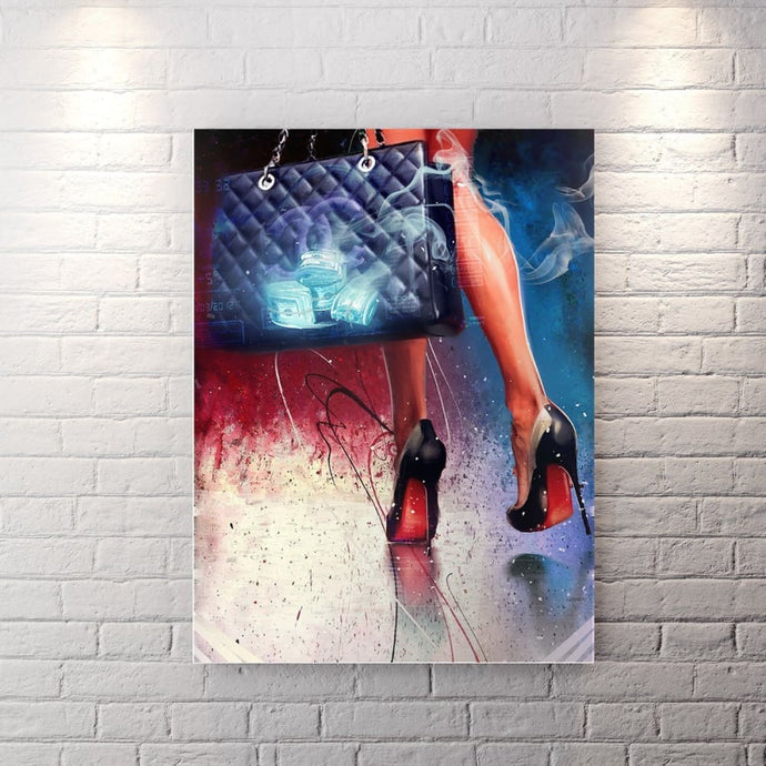 Stepping Out Like A Boss - Canvas Wall Art - Boss Lady Entrepreneur Female Boss Grind Luxury Lifestyle - $79.00
