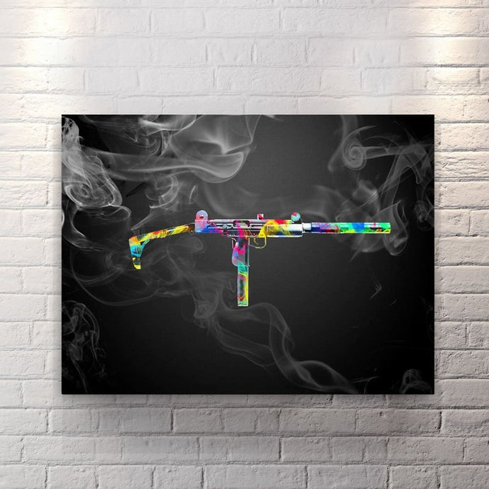 Up In Smoke - Blk - Canvas Wall Art - Street Style Weapons - $79.00
