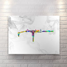 Up In Smoke - Wht - Canvas Wall Art - Street Style Watches Weapons - $79.00