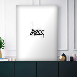 Wht Collection - Boss - Canvas Wall Art - Boss Lady Motivational - $79.00