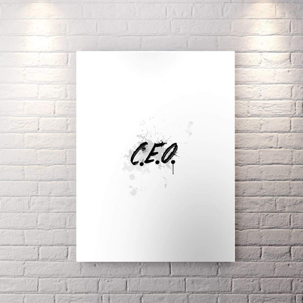 Wht Collection - C.e.o. - Canvas Wall Art - Boss Boss Lady Motivational - $79.00