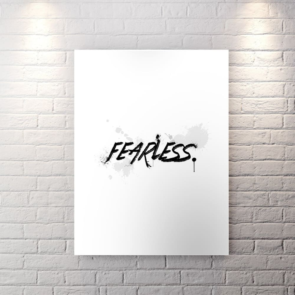 Wht Collection - Fearless - Canvas Wall Art - Motivational - $79.00