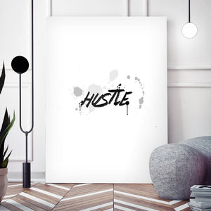 Wht Collection - Hustle - Canvas Wall Art - Entrepreneur Grind Hustle Motivation Motivational - $79.00