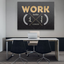Work - Harder Faster Stronger Longer. - Canvas Wall Art - Beast Mode Entrepreneur Grind Hustle Motivation - $79.00