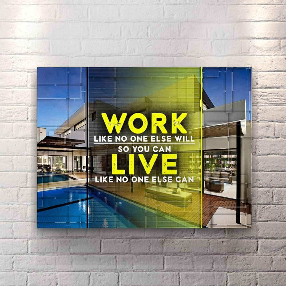 Work Like No One Else - Canvas Wall Art - Entrepreneur Grind Hustle Motivation Motivational - $79.00