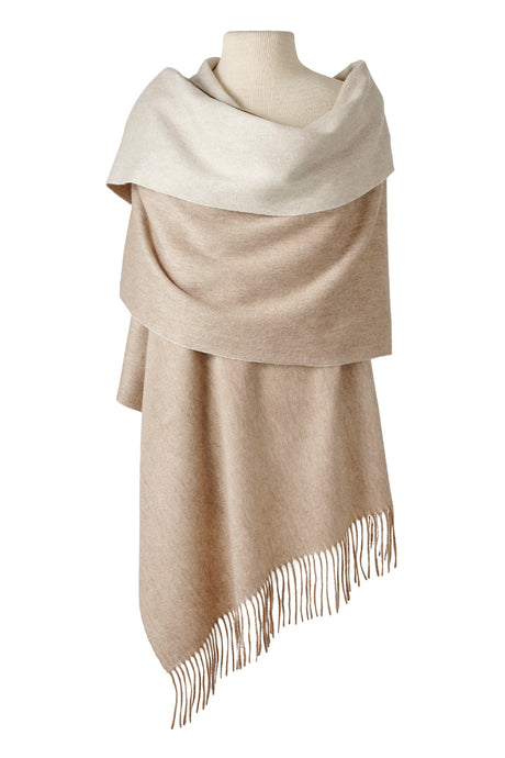Double-Faced Cashmere Wrap
