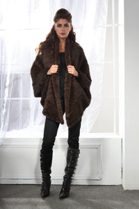 Knitted Mink Wrap
