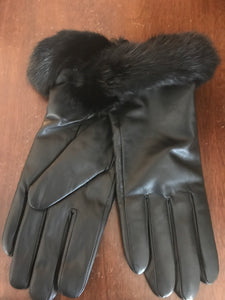 Leather Gloves Trimmed with Mink (CURRENTLY NOT IN STOCK)