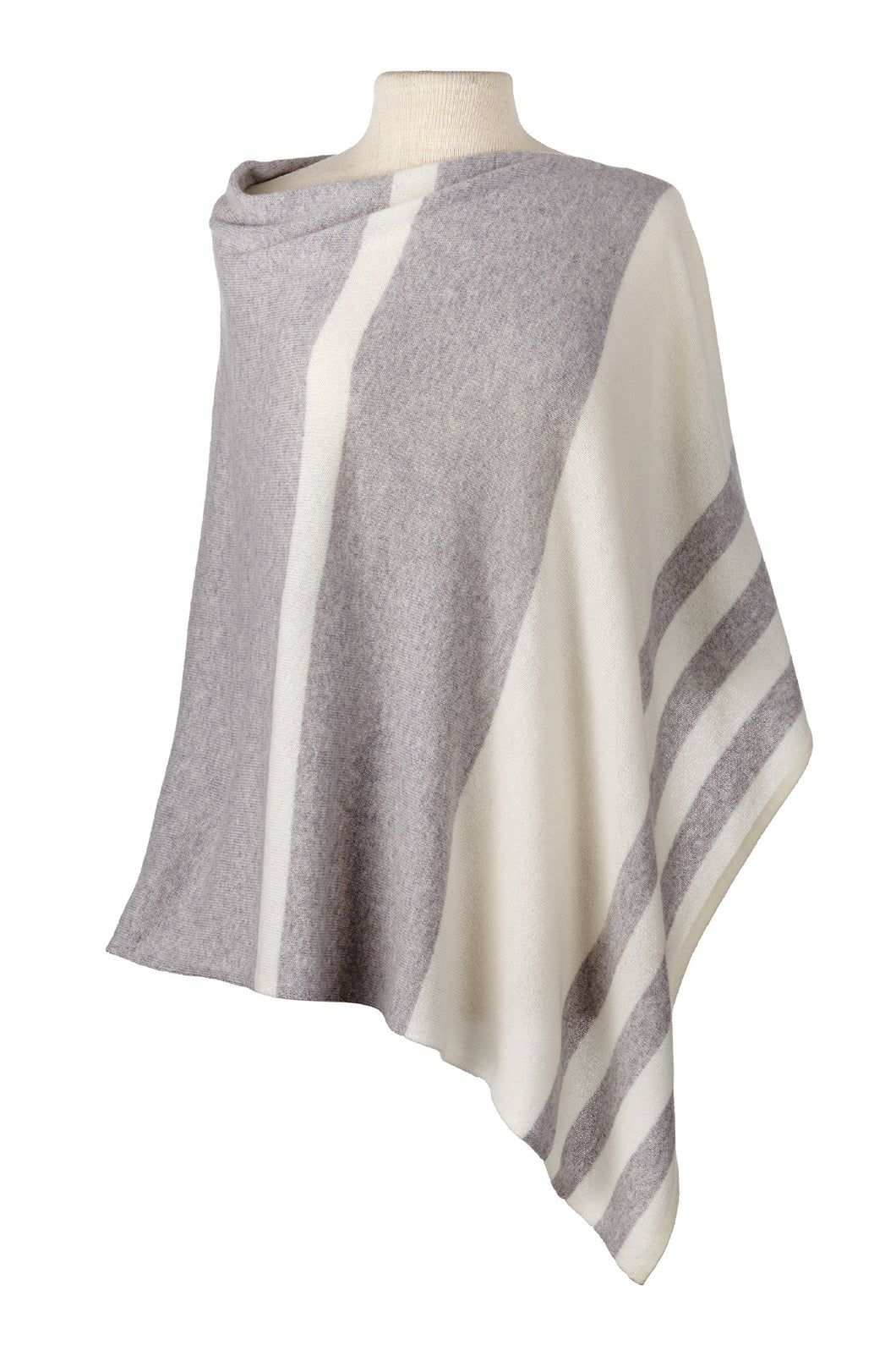 Stripped Cashmere Cape