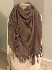 Triangle Scarf/Shawl with Fringe