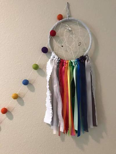 Dreamcatcher Dream Catcher Rainbow Baby SIDS Infant Loss Dragonfly Newborn Infant Toddler Nursery Playroom