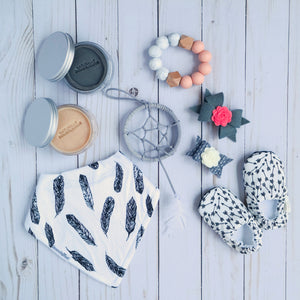 flatlay dreamer dream catcher dreamcatcher gray bobo vibes bohemian baby outfit nursery lsdreams l.s.dreams