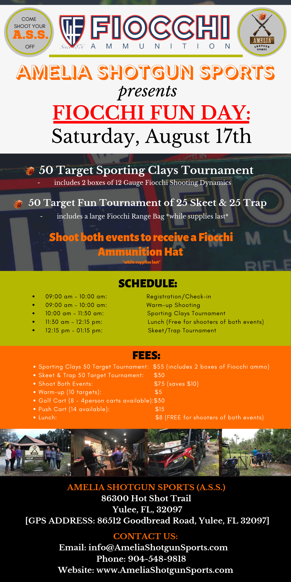 Amelia Shotgun Sports  presents  FIOCCHI FUN DAY